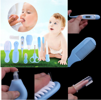 10PCS/set Infant Baby Health Care Grooming Kit Nail Hair Thermometer Nurse Daily