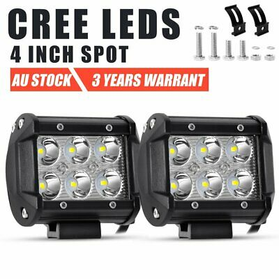 2x 4INCH 30W CREE LED WORK LIGHT BAR SPOT OFFROAD 4x4WD CAR FOG LAMP 12V 24V