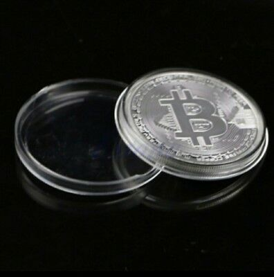 Bitcoin silver Plated Coin Commemorative piece with Case