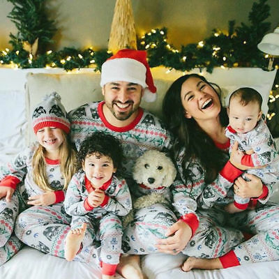 Family Matching Kids Mom Christmas Pajamas PJs Sets Xmas Sleepwear Nightwear AU