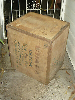 Rustic Tea Chest Box Trunk Table 60s 70s Vintage Industrial Home Decor Furniture