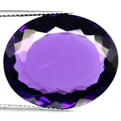 23.97 Ct Aaa! Purple Clr Change To Pink Amethyst Oval Brazilian Extreme