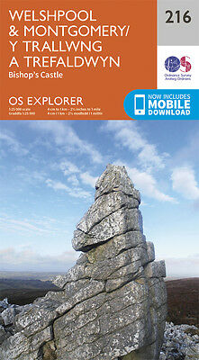 Welshpool and Montgomery Explorer Map 216 - OS - Ordnance Survey