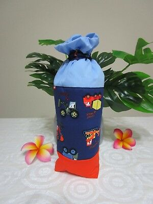 Insulated baby bottle bag-Trucks,bulldozers-Fits all baby bottle sizes.