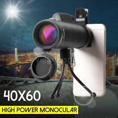 40X60 Zoom HD Optical Monocular Outdoor Hunting Telescope +Tripod + Adapter V4A5