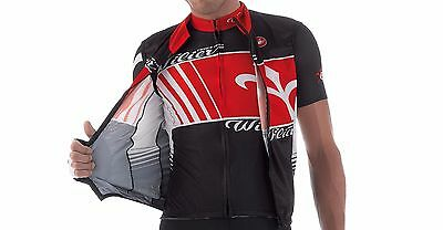 Wilier Cycling Wind Vest Black/Red WL73