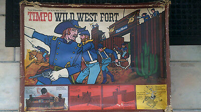 Vintage Timpo Wild West Fort for spares or repair not britains parts missing