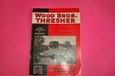 1936 Wood Bros. Thresher Co. ,u.s.a., Brochure, Original, V. Rare