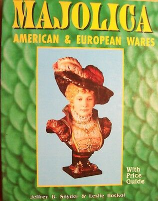 MAJOLICA POTTERY $$$ id PRICE GUIDE Collector BOOK Bowls Pitchers Plates