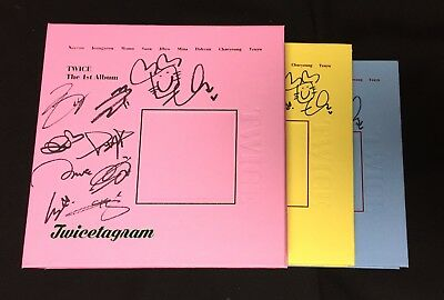 "TWICE autographed ""Twicetagram"" LIKEY 1st Album signed PROMO CD"