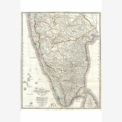 India Hindostan or British India; Lovely Historic Cartography; 1838 Wyld Map