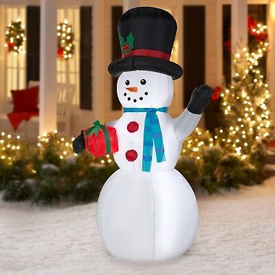 7FT Inflatable Snowman Christmas Airblown Holiday Yard Decoration LED Lights
