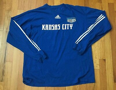 Adidas Kansas City Wizards T-Shirt MLS Soccer Large L Vintage Sporting KC  Mens ca726f3fd