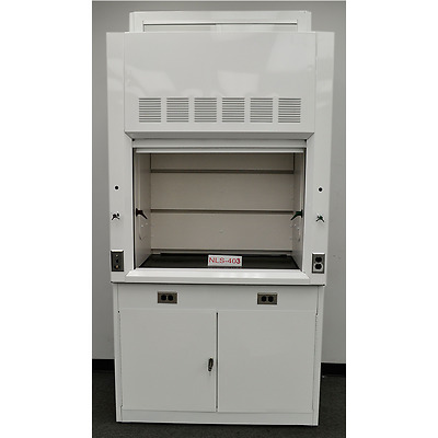 -NEW..Chemical 4' Laboratory Fume Hood WITH Epoxy Top and Cabinet .--