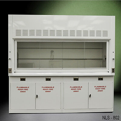 -- LAB EQUIPMENT -  8' Laboratory Chemical Fume Hood with Flammable cabinets