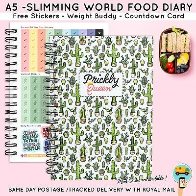 FOOD Diary Diet 3mth BOOK SLIMMING WORLD COMPATIBLE  WEIGHT LOSS SHOES 42 - 2018