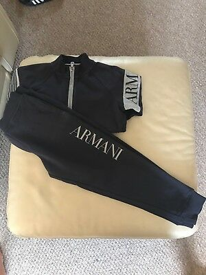 Boys/young Boys Armani Junior Tracksuit Age 6 Hoodie Winter Fantastic Condition