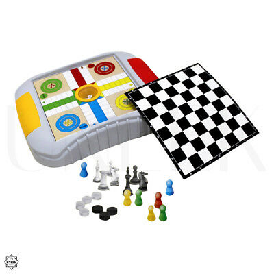 4 in 1 Games Set - Ludo, Snakes & Ladders, Draughts & Chess Board Games