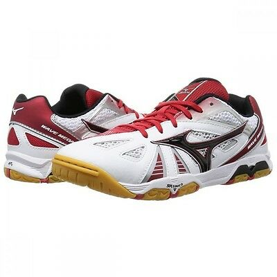 Mizuno Japan WAVE MEDAL 5 Table Tennis Shoes 81GA1515 Ping Pong White Red