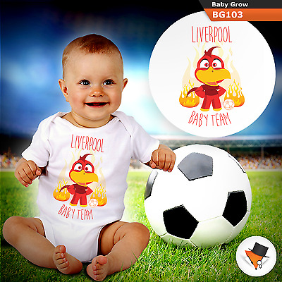 LIVERPOOL BABY FOOTBALL TEAM BABYGROW BABY GROW ALL SIZES 0- NEW4 months  NEW