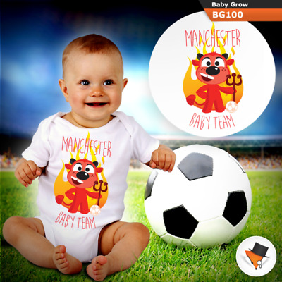 Manchester United Baby Football Team Utd Babygrow Baby Grow All Sizes New