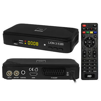 DVB-T/T2 RED Opticum LION 3 Full-HD 265 HEVC H.265 Mediaplayer Receiver USB HDMI