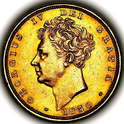 1830 King George IV IIII Great Britain London Gold Sovereign