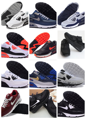 Men's Air Max 90 Walking Running Performance Shoes Trainers Full Sizes +Box