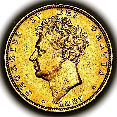 1827 King George IV IIII Great Britain London Gold Sovereign