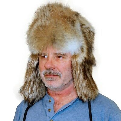 08adf9cd3396a GLACIER WEAR COYOTE Fur Russian Trooper Hat hts1030 -  259.95