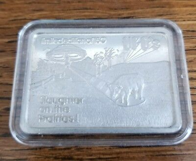 Rare 1 oz .999 silver bar Green Country Mint