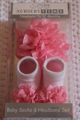 Baby Socks and Headband Set 0-12 months