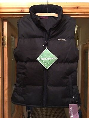 Ladies Mountain Warehouse thick gilet size 16 black showerproof BNWT