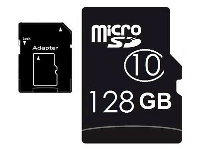 128 GB Speicherkarte Class 10 Micro SD Memory Card Smartphone Tablet + ADAPTER
