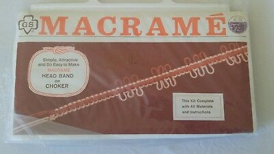 Vintage 1970s Girl Scout Macrame Kit HEAD BAND or CHOKER 25-103 Knotting Board