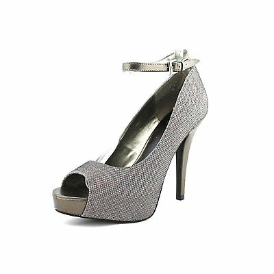 G by Guess Womens VALORA Suede Peep Toe Ankle Strap Light Natural Size 10.0 nl