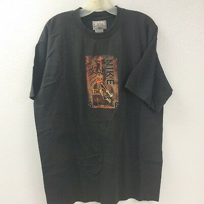 Black VINTAGE Nike Short-Sleeve Tee-Shirt NWT Made USA Large Unisex Rare