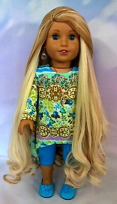 "10-11 Custom Doll Wig fit Blythe-American Girl-1/4 Size Dolls ""Creme Soda"" bn1"
