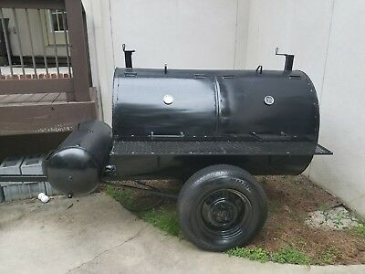 Large smoker/grill on trailer