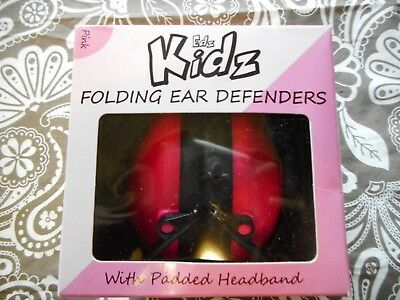 Edz Kids Folding Ear Defenders With Padded Headband Blue & Pink Colors