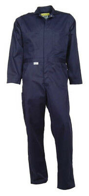 Navy Blue Flame Resistant Coverall (Indura®)-NEW!-NO UPCHARGE FOR BIG AND TALL