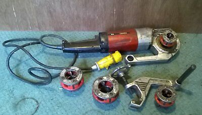 Ridgid 114 Pipe Threader 110V Including Vice Clamp And 4 Dies