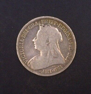 1895 Great Britain Shilling .925 Fine Silver ASW .1682 oz KM # 780