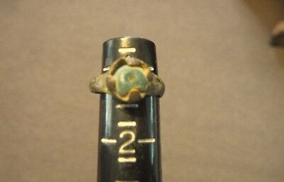 Ancient Roman Blue Glass Ring Authentic Rome Artifact #b