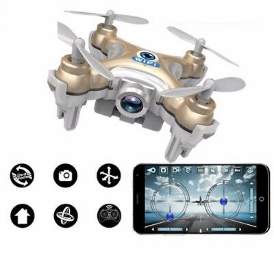 Mini RC Quadcopter UFO HD Camera wifi Drone with LED lights