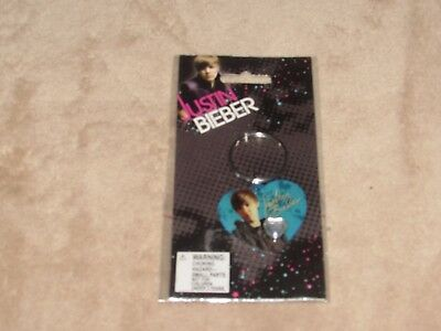 Justin Bieber Key Chain Blue Heart New in package FREE SHIPPING