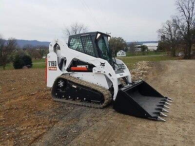 2007 Bobcat T190 Compact Track Skid Steer Loader Diesel Cab AC Hydraulic Coupler