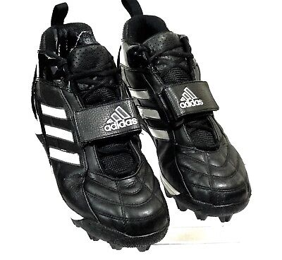 low priced a30c7 5dc7e ADIDAS Mens Cleats Baseball Football Soccer Black White Sports Shoes Size  US10