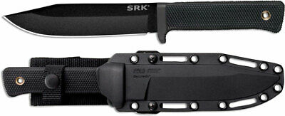 Cold Steel 49LCK SRK Fixed Blade Tactical Knife (6″ Black SK-5) w/ Shearh