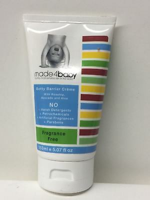 Made4baby Organic Skincare for Botty Barrier Creme Fragrance Free- 150 ml / 5.07